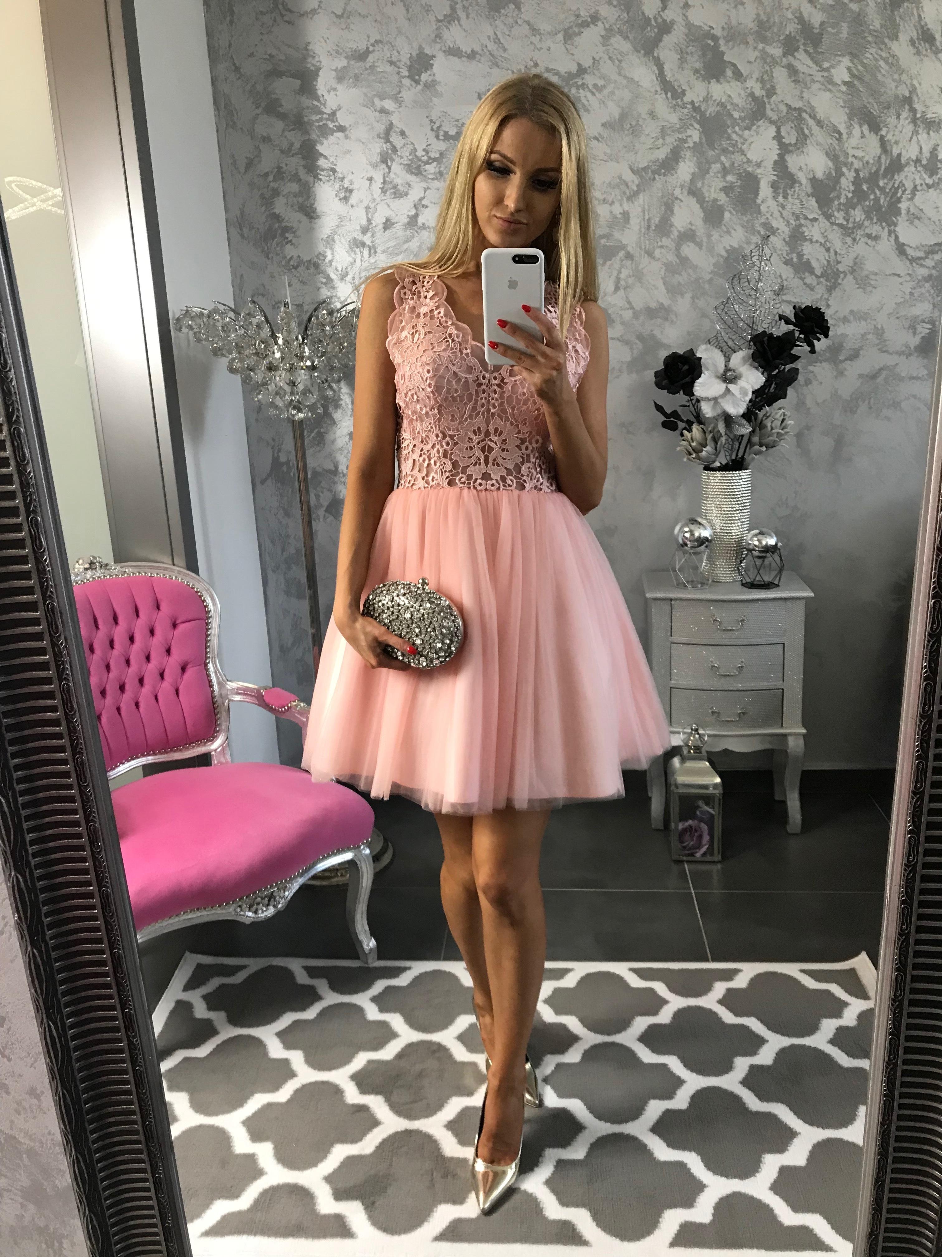 c0c4b5a57 Luxusné spoločenské šaty s týlovou sukňou Pretty – marhuľové ...