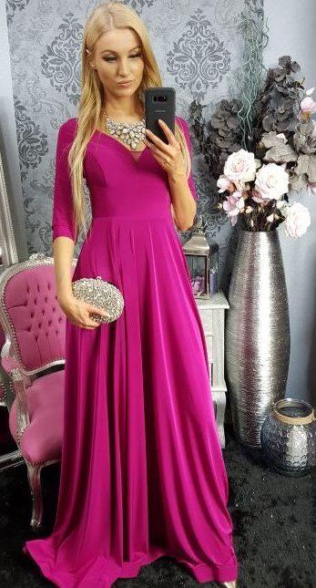 503e143cf2fc Dlhé spoločenské šaty – purpurovo ružové