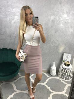 Krátka bandážová sukňa s ozdobným zipsom v ZD