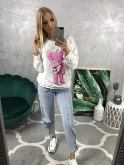 Bavlnená mikina/tričko s potlačou a ozdobnými kamienkami