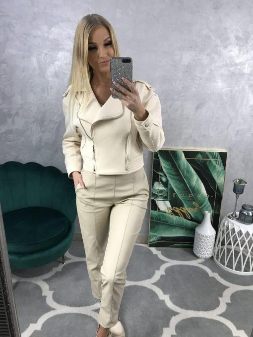 Krátka bavlnená bundička s ozdobnými zipsmi