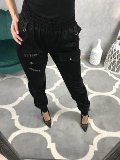 Trendy kapsáčové nohavice / čierne
