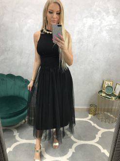 Dlhá vzorovaná satenová sukňa